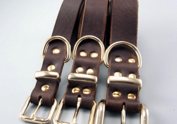 Leather Leashes Pets